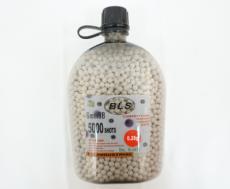 Шары для страйкбола BLS 0,28 г, 5000 штук (белые) фляга-бутылка
