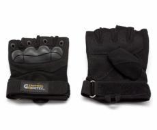 Перчатки тактические Gongtex укороченные (черные)