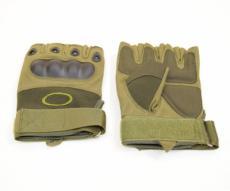 Перчатки с обрезанными пальцами Oakley tac-023b Green