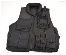 Полицейский жилет P24 Black, с воротником №2 (P24-0615)