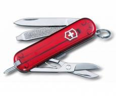 Нож-брелок Victorinox Classic Ruby 0.6225.T (58 мм, полупрозрачный красный)