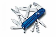 Нож складной Victorinox Huntsman 1.3713.T2 (91 мм, полупрозрачный синий)