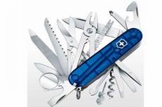 Нож складной Victorinox SwissChamp 1.6795.T2 (91 мм, полупрозрачный синий)