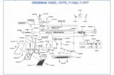 Винт крепления накладки рукоятки CROSMAN 1377