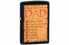 Зажигалка Zippo 28372 Things Learned From Dad